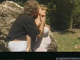 Pregnant blondie Horny Mom To Be