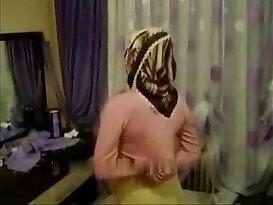 Arab girl fucked by hard sex with hijab turban being masturbated