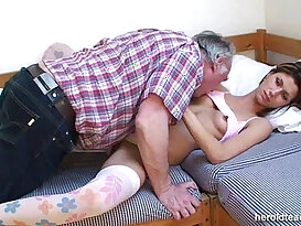 Old man and sleeping beauty