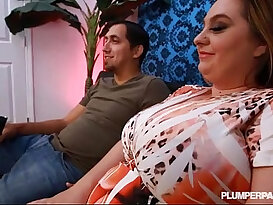 Big Tit MILF BBW April M Gets Oiled and Fucked By Huge monster Cock