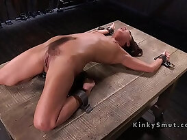 Petite slave got pussy whipped
