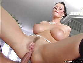 Ass Traffic huge tits fucked and double penetrated