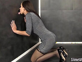 Facialized high heel babe