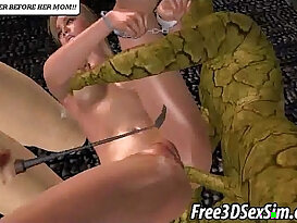 Yummy 3D cartoon euro babe getting fucked by monsters
