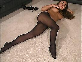 Aubrey in Black Pantyhose II