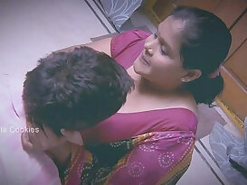 Chubby Indian Lady is busy with younger man