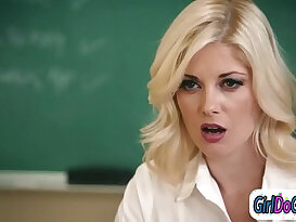 Teacher facesitting a students mom to get her higher grades