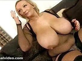 Nasty Big Tit British blonde Slut cock and Fucks Huge monster Black hard long Cock While Hubby is Away