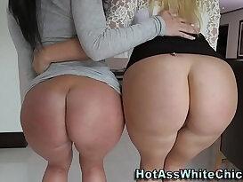 Big butt sluts share a big cock