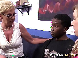 mature ugly and young couple fuck with black penis