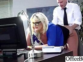 Office real slut Girl julie cash bang in Hard doggy Style Banged sex tape clip 18
