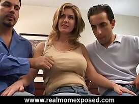 Double penetration with slut busty wife