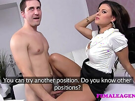 FemaleAgent Horny sex starved new agent