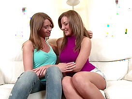 Sensual Licking by Sapphic Erotica lesbian scene on cam with Misha and Re