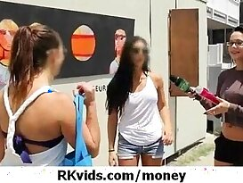 Gorgeous teens fucked for money 20